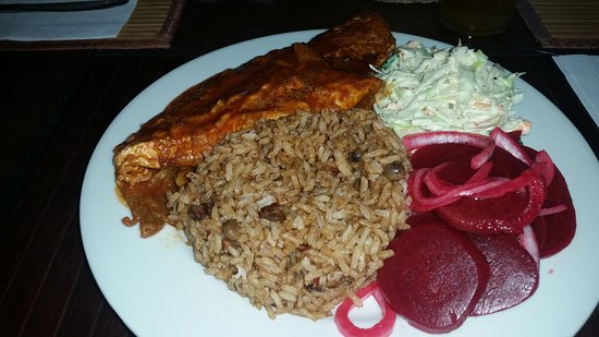 Eddie Edgewater's Grill: Day 1: Steamed fish with rice, beets and coleslaw