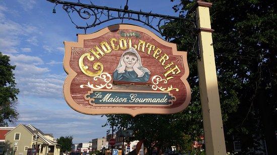 Chambly, Kanada: Enseigne de la chocolaterie