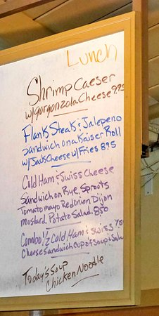 Los Gatos, CA: The lunch side of the daily special board.