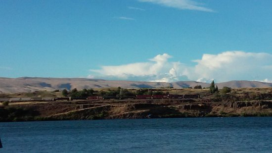 The Dalles: View from the Port walkway.