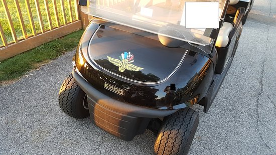 Brickyard Crossing Golf Course: Speedway Golf cart