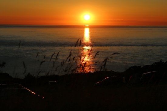 Mortehoe, UK: Sunset from our pitch