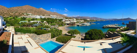 Elounda Peninsula All Suite Hotel: Панорама из номера.