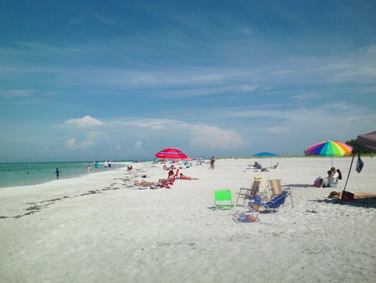 Lido Beach Some Colorful Umbrellas And Lawn Chairs On The