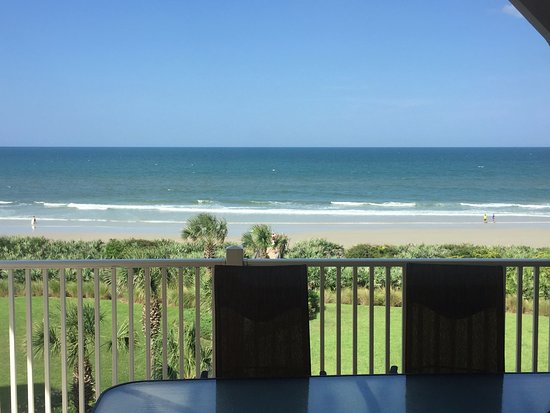 Cinnamon Beach at Ocean Hammock Beach Resort: view from patio
