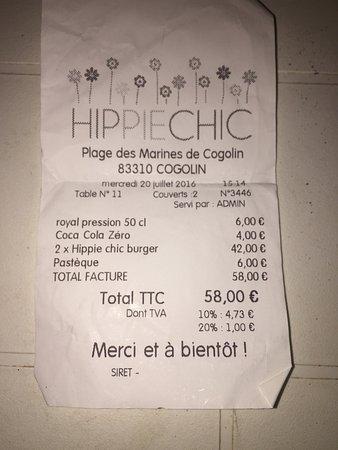 Cogolin, Γαλλία: En bøf der har været retur to gange da den var rå, derefter i chef Mike (microovn)