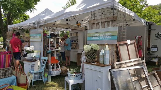 Victoria Park: One of the booths from the Home County Folk Festival