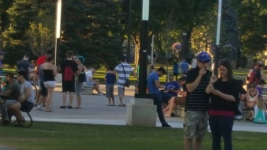 Victoria Park: Just some of the people playing Pokemon Go