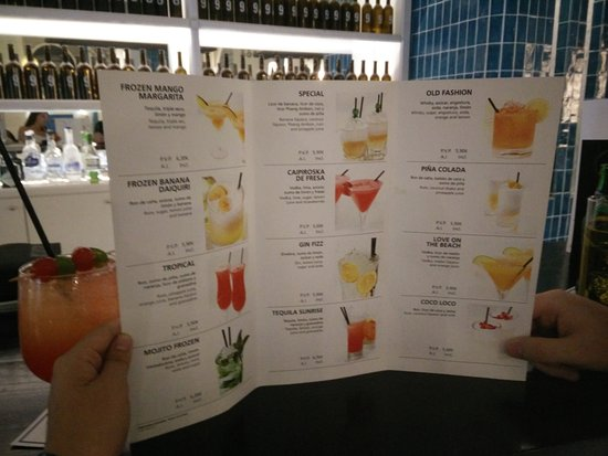 Hotel Cocktail Menu All Free On All Inclusive Non