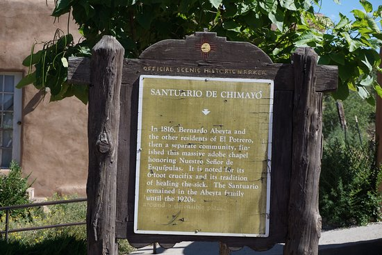 Chimayo, New Mexiko: signage