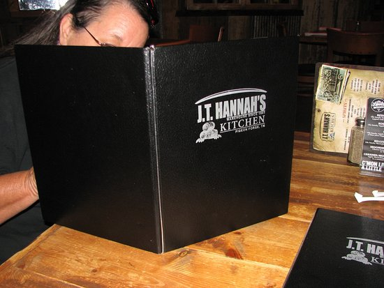 J.T. Hannah's Kitchen : Menu