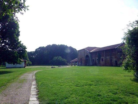 Boscoincitta: 右奥にバーベキューが出来る場所がある。