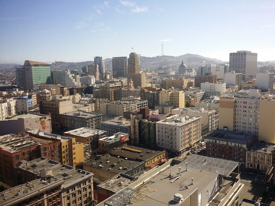 Parc 55 San Francisco, a Hilton Hotel: View of cityscape from 14th Floor king room