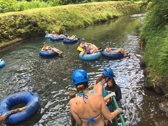 Hanamaulu, HI: This is the start of the tube ride