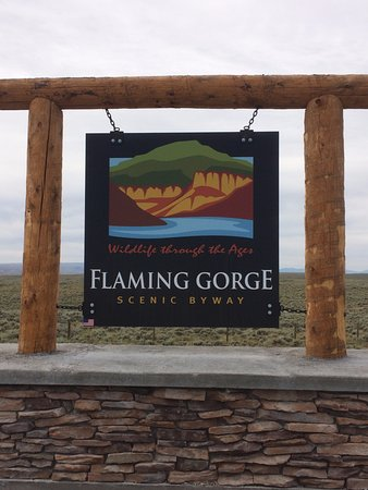 Rock Springs, WY: Scenic Byway sign