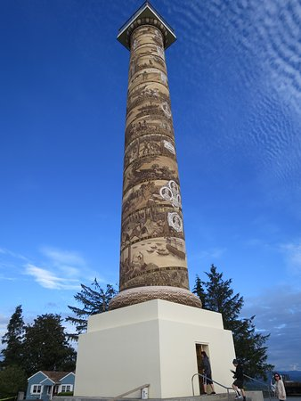 Astoria Column on a beautiful day.