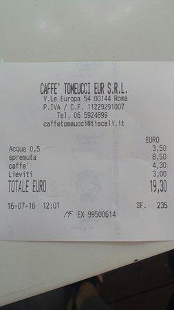Caffe Tomeucci: furto legalizzato