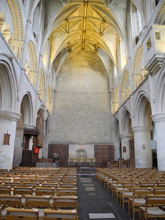 Malmesbury, UK: The interior of the abbey