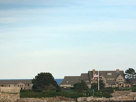 Kennebunkport, ME: They are home!  See the Texas flag?