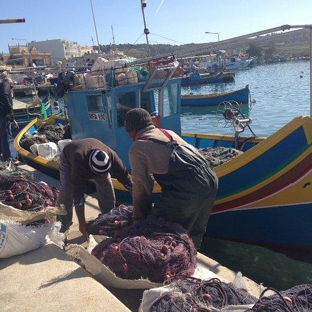 Marsaxlokk, Malta: Fishermen and Luzu