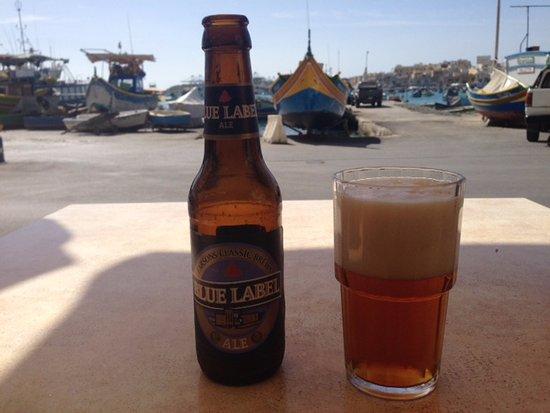 Marsaxlokk, Malta: King of the Local Beer: Blue Label