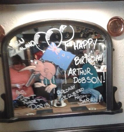 Thank You Phil At The Slaters Arms For Your Masterpiece Birthday Wishes My Dads 70th