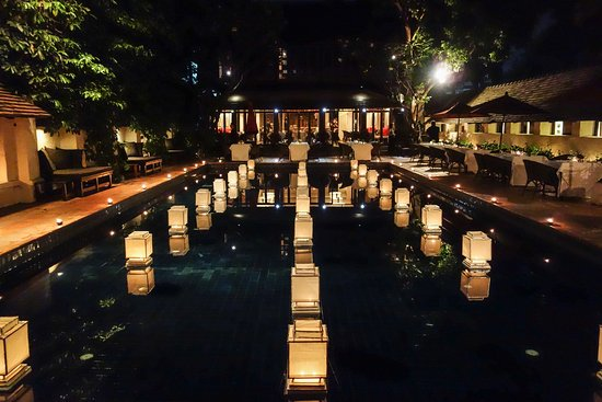Tamarind Village: Decorated beautifully with lanterns for an event