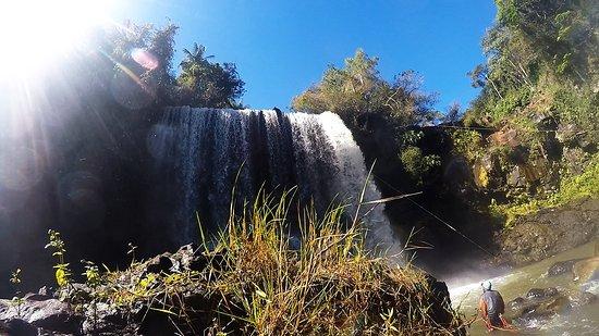 Brotas, SP: Uma das cachoeiras para a prática de canionismo