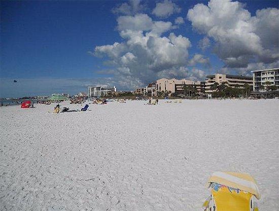 Calini Beach Club: The beach in front of Calini