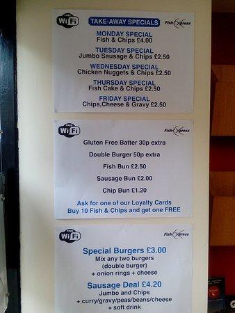 Kendal, UK: Gluten free