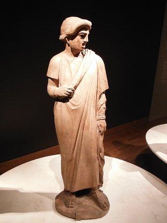 Montreal, Kanada: Pompeii exhibition. An actor.