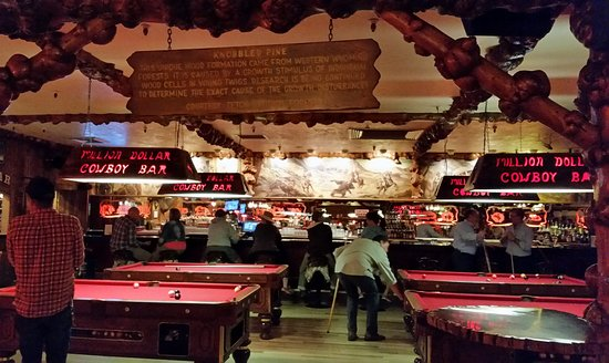 Stupendous Pool Tables And Bar At Million Dollar Cowboy Bar Picture Beutiful Home Inspiration Xortanetmahrainfo