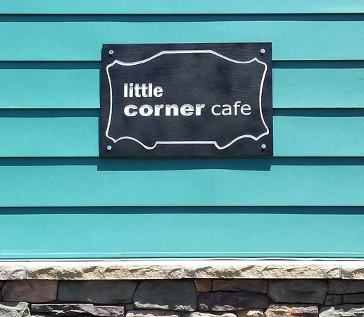 Bangor, PA: Little Corner Cafe Side Entrance Sign