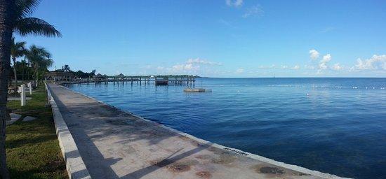 Jolly Roger Travel Park: Seawall & pier. From 2013