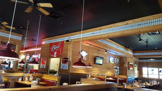 Logan's Roadhouse: Just a small portion of a dining area. I noticed 2 TV's.