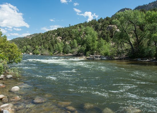 Buena Vista, CO: Arkansas River looking east to Barbara Whipple Trail