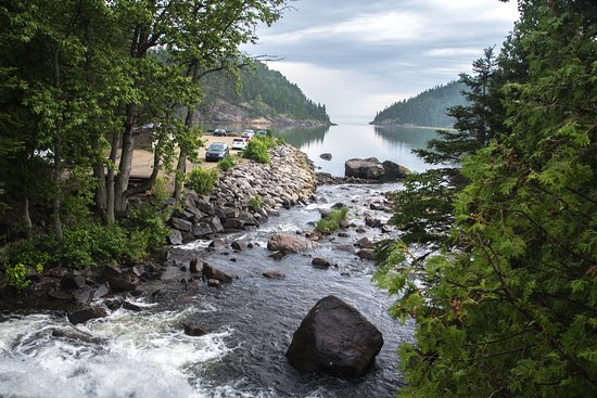 Saint-Simeon, Canada: vue du petit pond