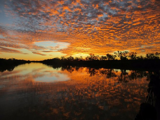 Sunset on the Thompson River Longreach QLD