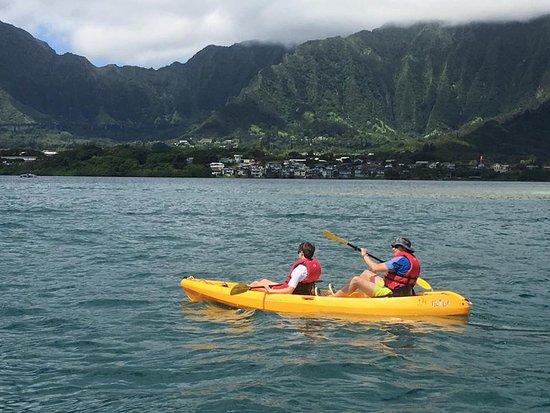 Kaneohe, Гавайи: Kayaking with beautiful views