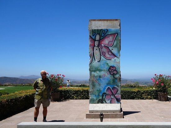 Piece of Berlin Wall and sweeing view of Simi Valley