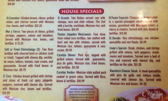 West Branch, IA: Menu Specials