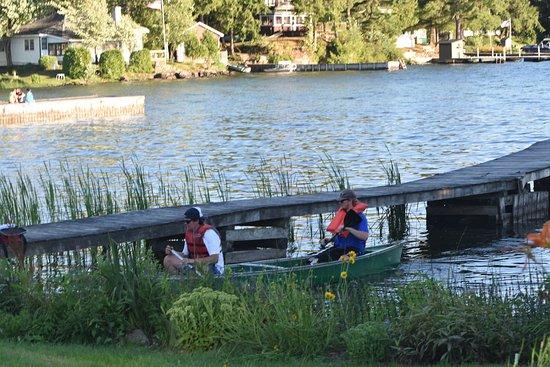 Hammond, estado de Nueva York: Fun in the canoe!