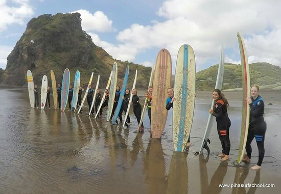 Piha surf school sharing the stoke!