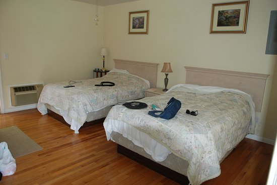 Springbrook Cottages: nice wood floors and spacious rooms and good bedding