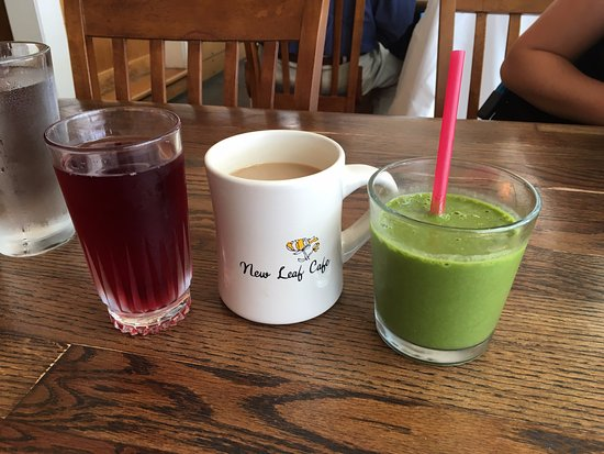Eastsound, WA: Cranberry juice, coffee with Baileys, green smoothie