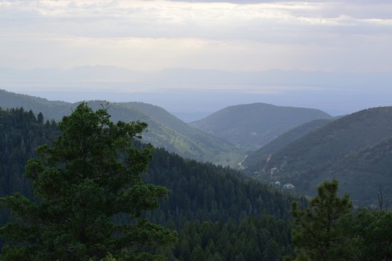 Cloudcroft, NM: View from trail overlook.