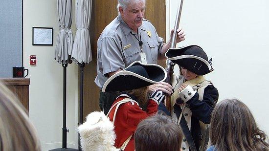 Yorktown, VA: Ranger Mac got the kids involved. What's it like to march 450 miles? Ask Ranger Mac