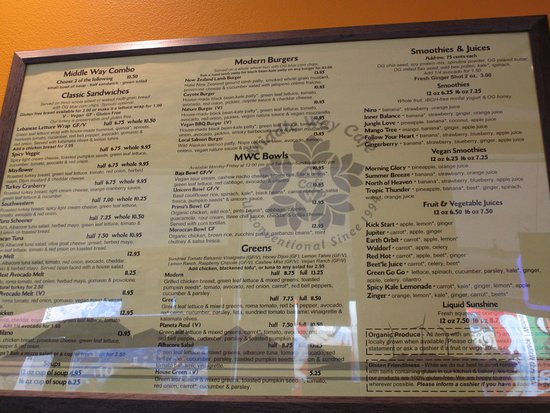 Middle Way Cafe Menu Anchorage Ak