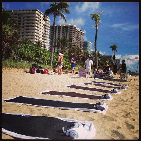 The St. Regis Bal Harbour Resort: Yoga on the Beach