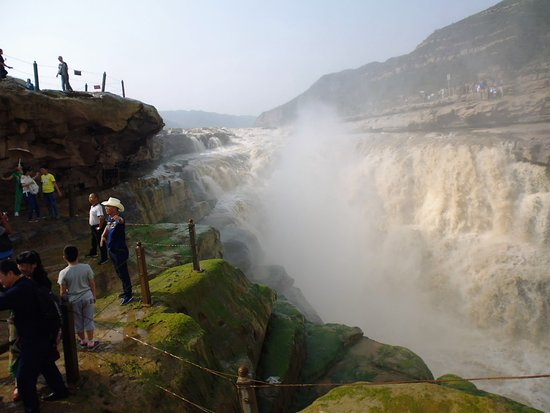 Ji County, China: The falls